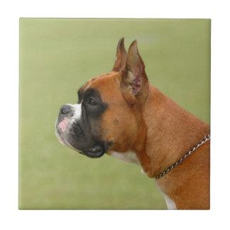 Boxer Dog Ceramic Tile