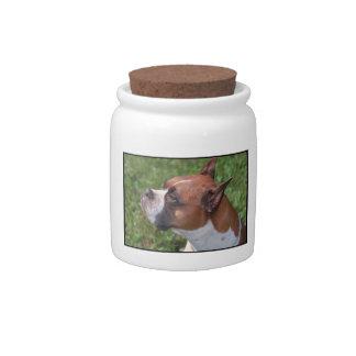 Boxer Dog Treat Candy Jar