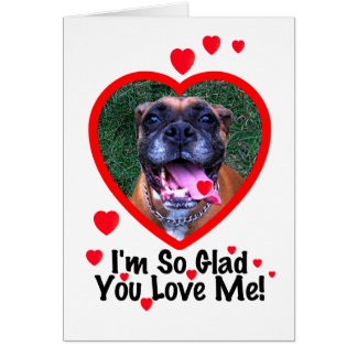 Boxer Dog Valentine Greeting Card