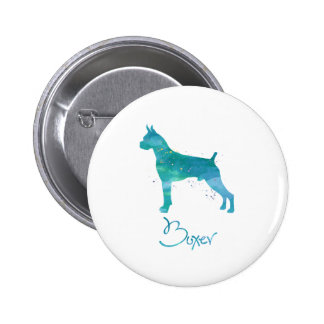 Boxer Dog Watercolor Pinback Buttons