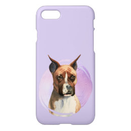 Boxer Dog Watercolor Painting iPhone 8/7 Case