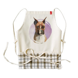Boxer Dog Watercolor Painting Zazzle HEART Apron