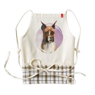 Boxer Dog Watercolor Painting Zazzle HEART Apron