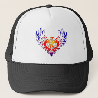 Boxer Dog Winged Heart Trucker Hat