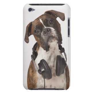 Boxer Dog with Headphones iPod Case-Mate Case
