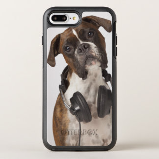 Boxer Dog with Headphones OtterBox Symmetry iPhone 8 Plus/7 Plus Case