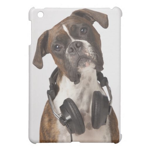 boxer dog with heads iPad mini covers