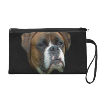 Boxer Dog Wristlet Purse