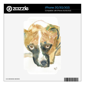 Boxer Doggie Buddy Decal For The iPhone 3GS