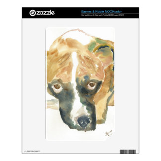 Boxer Doggie Buddy Decal For The NOOK Color