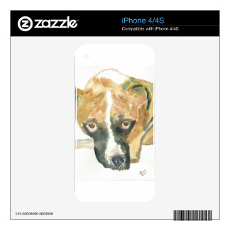 Boxer Doggie Buddy Decals For The iPhone 4