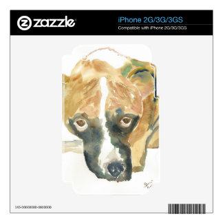 Boxer Doggie Buddy iPhone 3 Skins