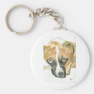 Boxer Doggie Buddy Keychain