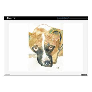 Boxer Doggie Buddy Laptop Decals