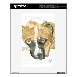 Boxer Doggie Buddy NOOK Color Decals