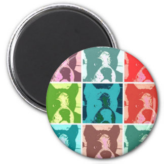 Boxer Dogs 2 Inch Round Magnet