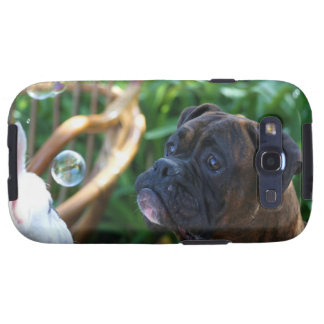 Boxer dogs and bubbles samsung galaxy s3 cases