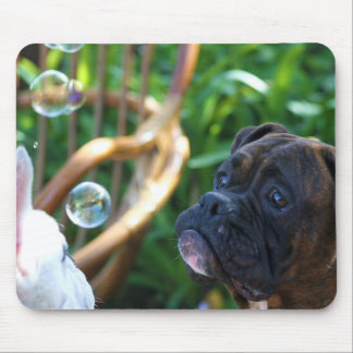 Boxer dogs and bubbles mousepad