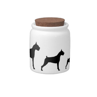 Boxer Dogs Candy Dishes