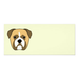 Boxer Dogs Face. Card