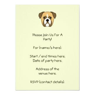 Boxer Dogs Face. Card