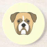 Boxer Dogs Face. Coasters