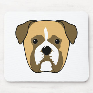 Boxer Dogs Face. Mouse Pad