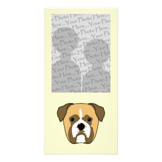 Boxer Dogs Face. Photo Greeting Card