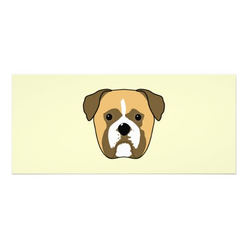 Boxer Dogs Face. Rack Card Template