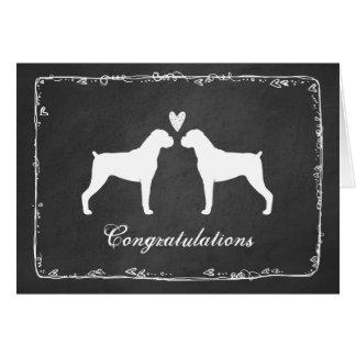 Boxer Dogs Wedding Congratulations Card