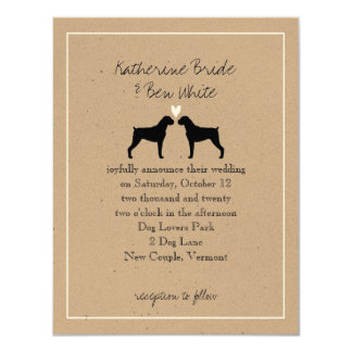 Boxer Dogs Wedding Invitation