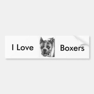 Boxer Drawing Bumper Sticker