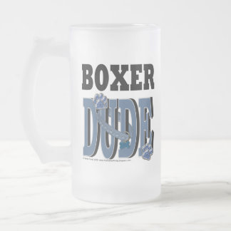 Boxer DUDE Frosted Glass Beer Mug