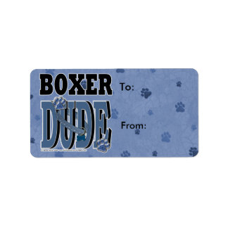 Boxer DUDE Label