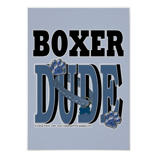 Boxer DUDE Posters