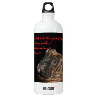 Boxer: Eyes of my dog Aluminum Water Bottle