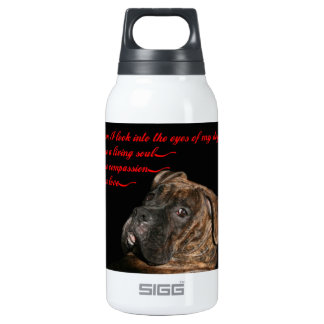 Boxer: Eyes of my dog Insulated Water Bottle