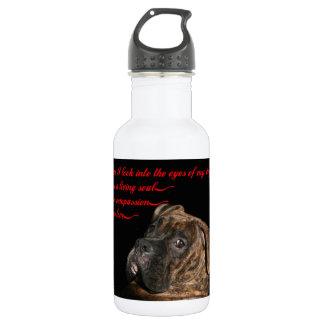 Boxer: Eyes of my dog Water Bottle