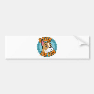 Boxer Fan Club Bumper Sticker