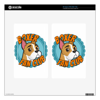 Boxer Fan Club Decal For Kindle Fire
