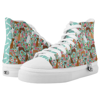Boxer Florals Dog shoes - hitops