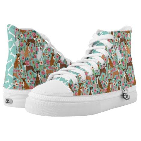 Boxer Florals Dog shoes - hitops