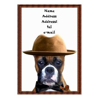 Boxer gentleman business card