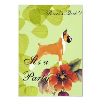 Boxer ~ Green Leaves Design Card
