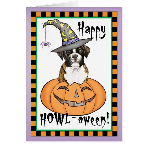 Boxer Halloween Greeting Cards