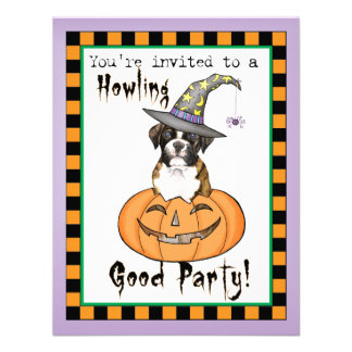 Boxer Halloween Custom Invite