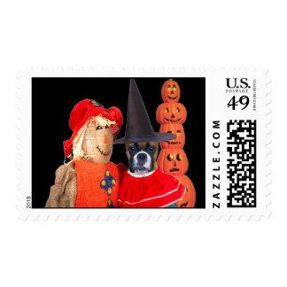 Boxer halloween postage