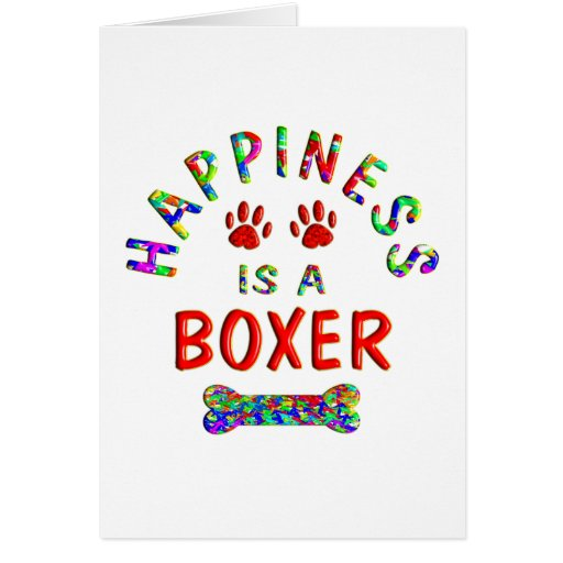 Boxer Happiness Greeting Card