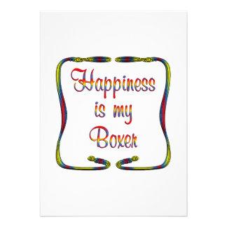 Boxer Happiness Personalized Invitation