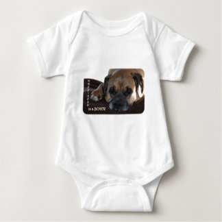 Boxer:  Happiness is a Boxer Baby Bodysuit